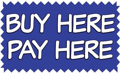 Buy Here Pay Here Vinyl Banner