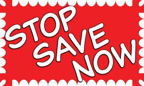 Picture of Stop Save Now vinyl banner