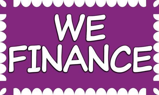 Picture of We Finance vinyl banner
